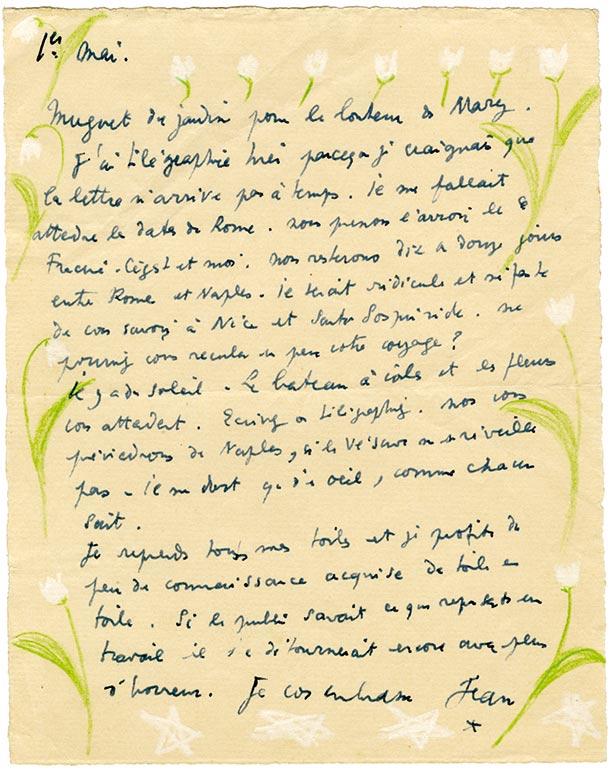 Cocteau lettre