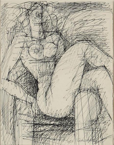 Marcel Gromaire étude de nu
