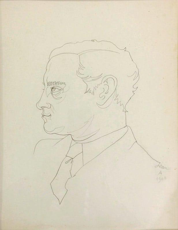 Jean Cocteau Dessin Georges Hugnet
