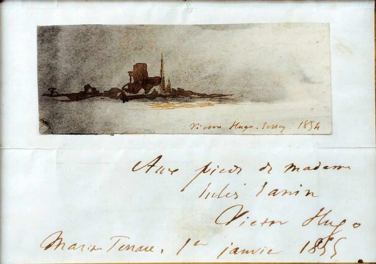 Hugo_dessin1854-Victor HUGO-Lettre de Peintre Oeuvre  -arts-fr-odeon-moderne-raux