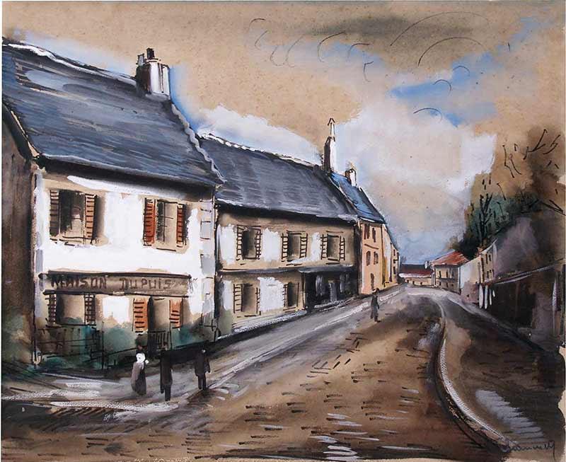 Maurice de Vlaminck Maison Dupuis - rue de village.