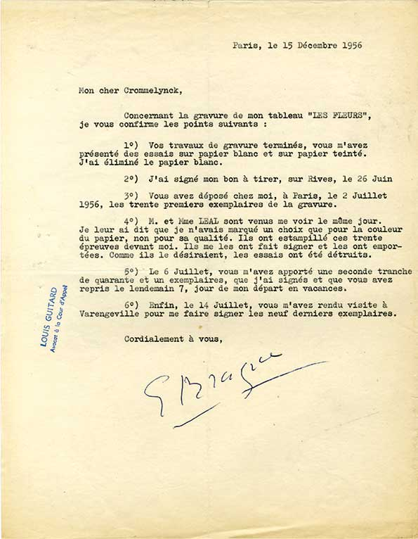 Braque-30318-Georges BRAQUE-Lettre de Peintre  -arts-fr-odeon-moderne-raux
