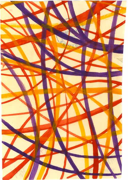Delaunay watercolor
