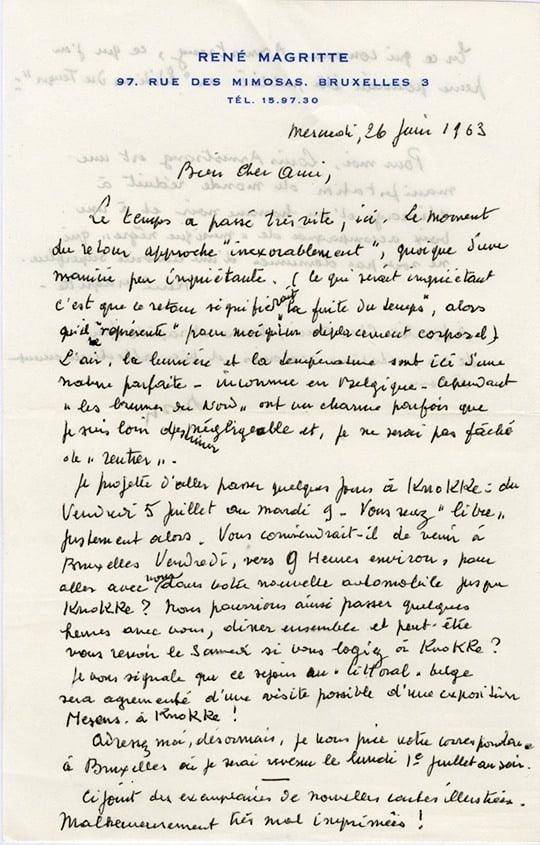 Magritte lettre