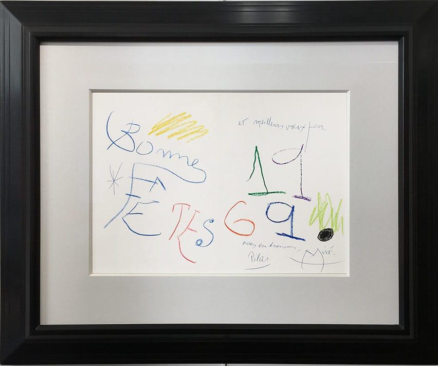 miro-1969-cadre-Joan MIRÓ-Lettre de Peintre Oeuvre  -arts-fr-odeon-moderne-raux