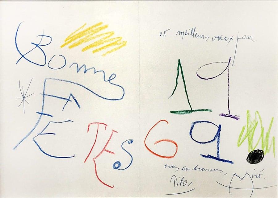 miro-sanscadre-Joan MIRÓ-Lettre de Peintre Oeuvre  -arts-fr-odeon-moderne-raux