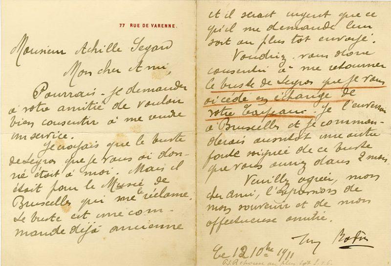 rodin-12-10-1911-800x544-Auguste RODIN-Painter's Letter  -arts-fr-odeon-moderne-raux