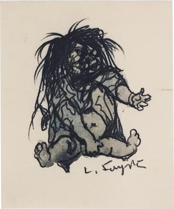 foujita-enfant-clochard-Léonard FOUJITA-Oeuvre  -arts-fr-odeon-moderne-raux